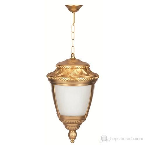 Şanlı Aliminyum Altın Yıldız Boyalı Hasır Model Fener Sarkıt Aplik