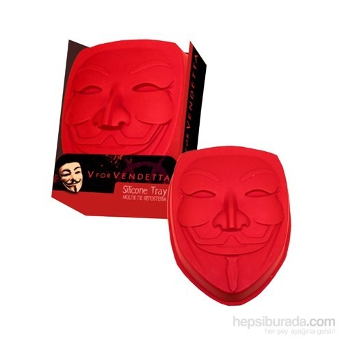 V For Vendetta Silicone Baking Tray Mask Logo Kalıbı