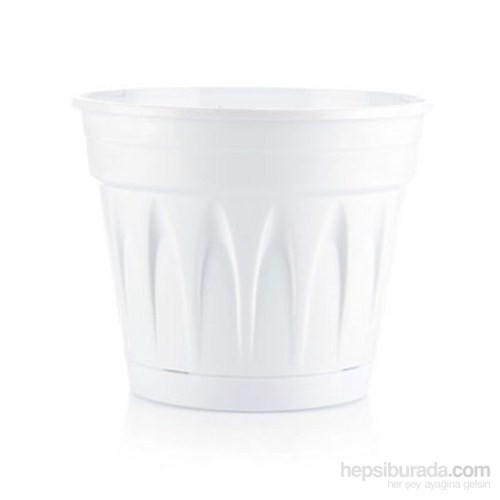 Plantistanbul Revak Saksı Beyaz Renk, 1 Litre, 3 Adet