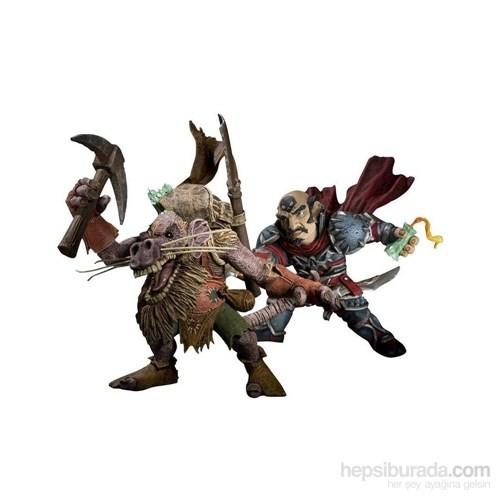 World Of Warcraft Gnome Rogue Ve Kobold Miner Figürleri