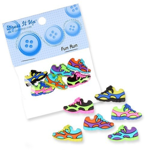 Kartopu Renkli Spor Ayakkabısı Şeklinde Dekoratif Düğme - 6958