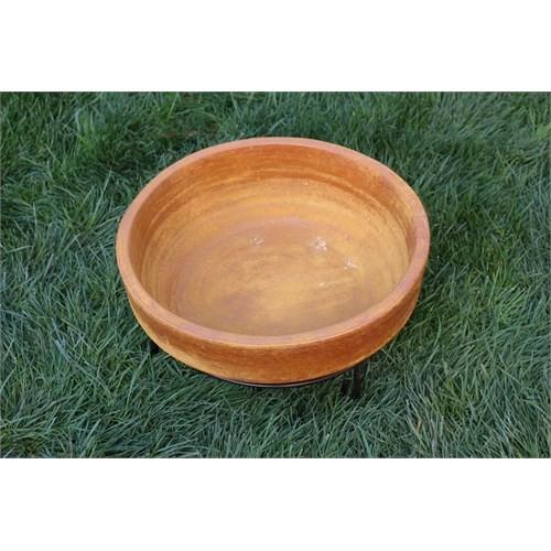 Greenmall Madellin Masa Üstü Açık Hava Bahçe Şöminesi + Mangal Sarı