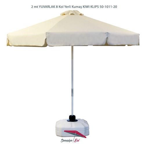 Şemsiye Evi 2 Mt Yuvarlak Kıwı Klips Bahçe Şemsiyesi Yerli Kumaş 50-1011-20