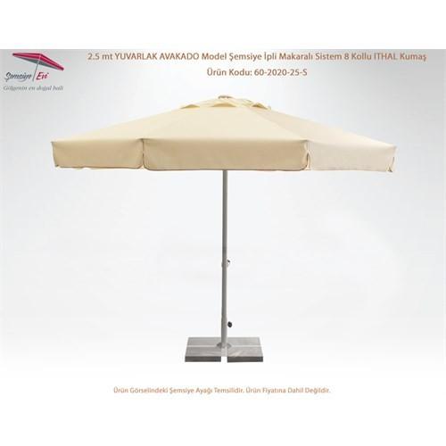 Şemsiye Evi 2.5 Mt Yuvarlak Avakado Şemsiye Ithal Kumaş 60-2020-25-S