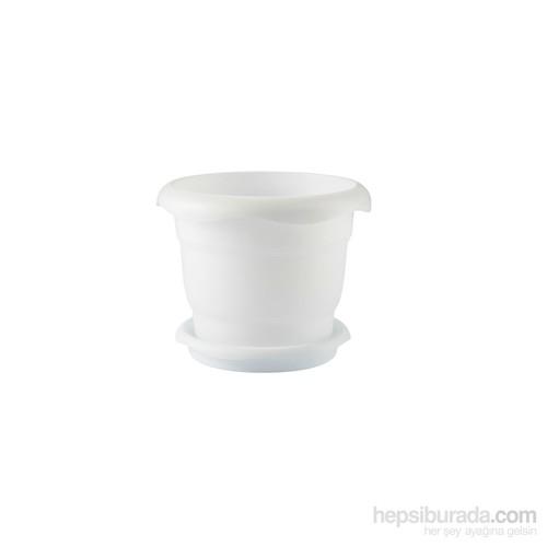 Renkli Saksı No3 - 515 - Beyaz