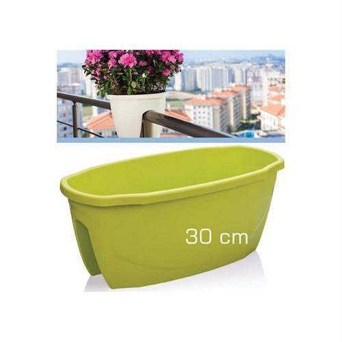 Homecare Korkuluk Küpeşte Saksı Fıstık Yeşili 30 Cm 091965