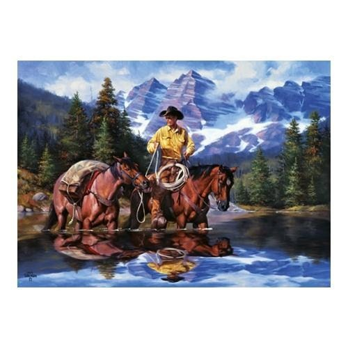 Masterpieces Puzzle Reflections Of The Rockies (1000 Parça)
