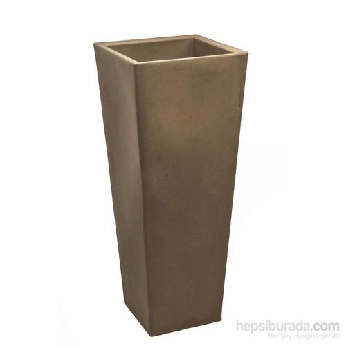 Teraplast Pasubıo Alto (Cappuccıno) 2 Plastik Saksı