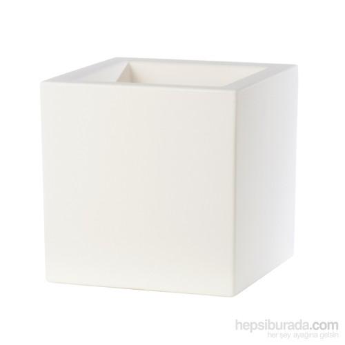 Teraplast Schıo Cubo (Beyaz) Plastik Saksı