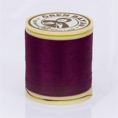 Ören Bayan Koyu Mor Polyester Dikiş İpliği - 418