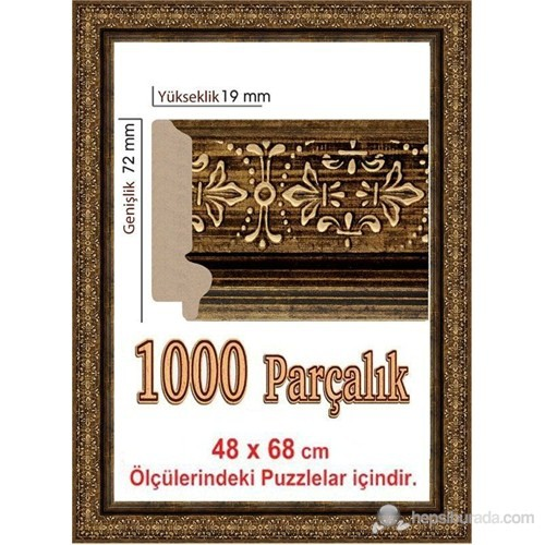 Heidi Polistiren Puzzle Çerçevesi 1000 Parça İçin 68 X 48 Cm
