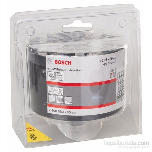 """Bosch - Speed Serisi Çok Amaçlı Delik Açma Testeresi (Panç) - 105 Mm, 4 1/8"""""""