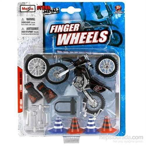 Maisto Off-Road Siyah Motorsiklet Fresh Metal Finger Wheels
