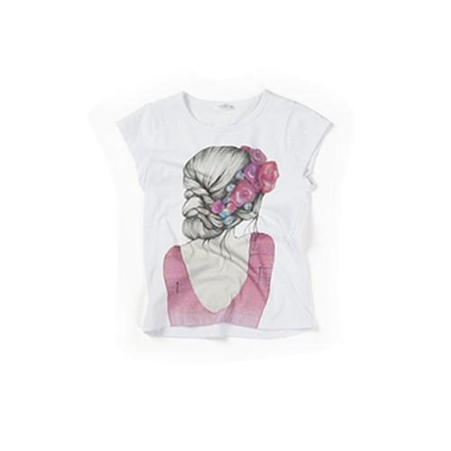 Zeyland Kız Çocuk Beyaz T-Shirt - K-61M4EFL51