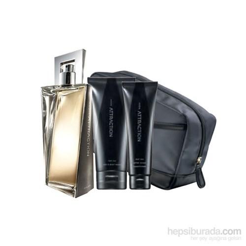 Avon Attraction Erkek Parfüm 75 Ml + Bakım Seti
