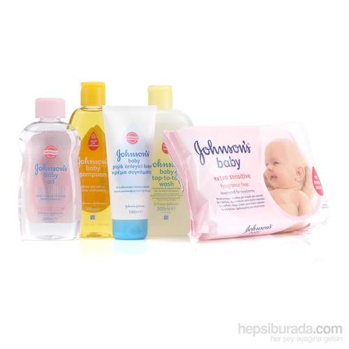 Johnsons Baby İyiki Doğdun Seti Pembe - Şampuan Ve Islak Mendil Hediyeli