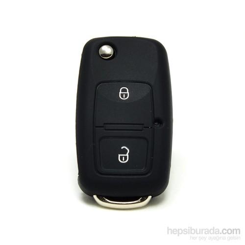 Gsk Volkswagen Kumanda Kabı Koruyucu Kılıf 2 Tuş Siyah