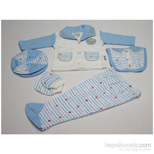 Nenny Baby Nenny Baby 5 Li Hastane Çıkışı T-715 Açık Mavi