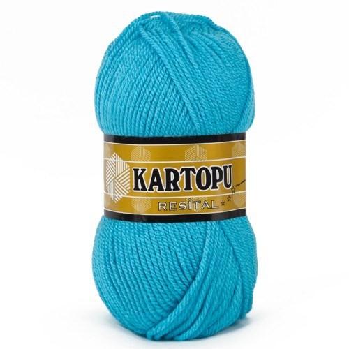 Kartopu Resital Deniz Mavisi El Örgü İpi - K515