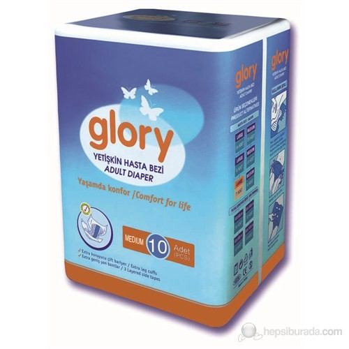 Glory Hasta Altı Bezi Medium 10'lu