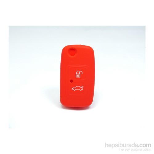 Chery Kimo Anahtar Kabı Koruyucu Kılıf 2 Tuş ( Kırmızı )
