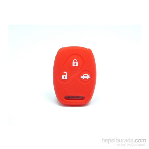 Gsk Honda Accord Anahtar Kabı Koruyucu Kılıf 3 Tuş ( Kırmızı )