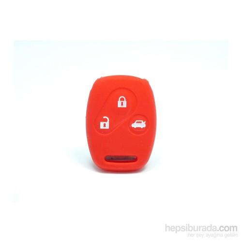 Gsk Honda Jazz Anahtar Kabı Koruyucu Kılıf 3 Tuş ( Kırmızı )