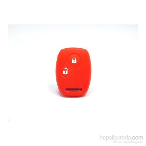 Gsk Honda Accord Anahtar Kabı Koruyucu Kılıf 2 Tuş ( Kırmızı )