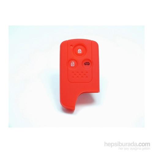 Gsk Honda Accord Kumanda Kabı Koruyucu Kılıf 3 Tuş ( Kırmızı )