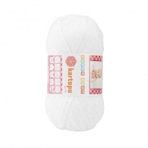 Kartopu Super Baby Beyaz Bebek Yünü - K001