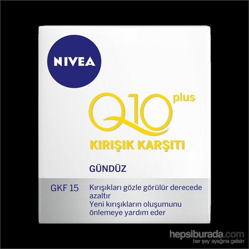 Nivea Visage Q10 Plus Kırışık Karşıtı Gündüz Krem Spf 15 50 Ml