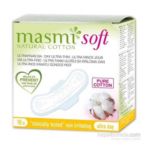 Masmi Soft %100 Saf Ve Doğal Pamuk Ultra İnce Kanatlı Gündüz Ped