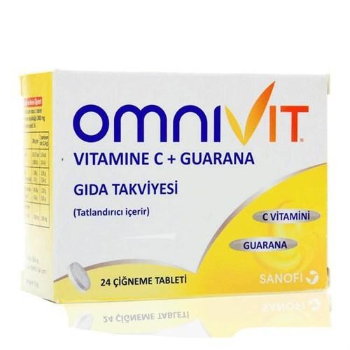 Omnivit C Vitamini Guarana 24 Tablet