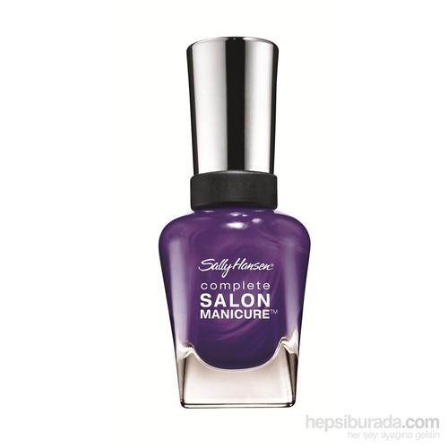 Sally Hansen Complete Salon Manicure - Purple Pulse - 5'Li Etkili Oje - Işıltılı Mor - 470