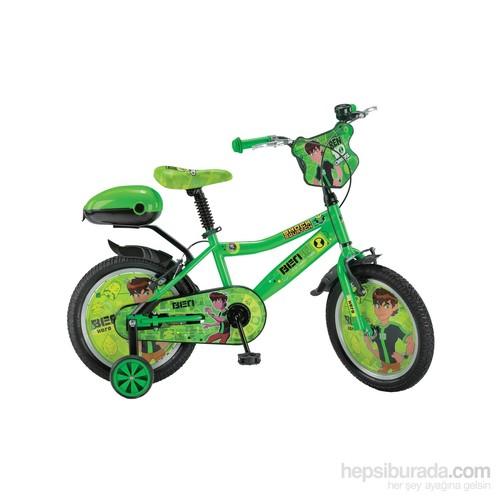 """Ümit 16"""" Ben10 Omniverse 1612 Çelik Kadro V Fren 1 Vites Yeşil Unisex Çocuk Bisikleti"""