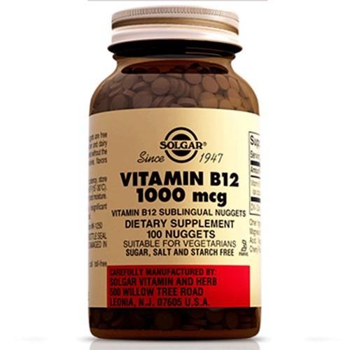 Solgar Vitamin B12 1000 Mg 100 Kapsül