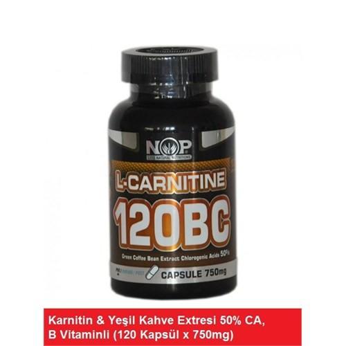 Sepe Natural Nop L-Carnitine 120Bc Yeşil Kahve & B Vitaminli 120 Kapsül 750Mg