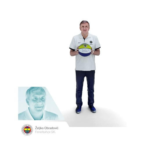 Fenerium 3D Prınt Sporcu Figürü - Z. Obradovic
