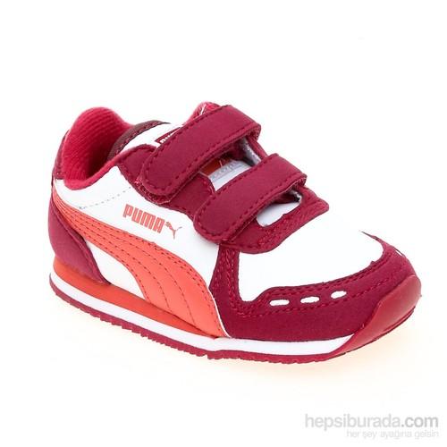 Puma Cabana Racer Sl V Kids Cerise-White-Duba Çocuk Spor Ayakkabı 21-27