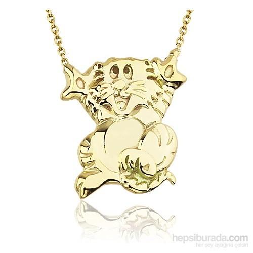Goldstore 14 Ayar Altın Kedi Kolye Gp38365
