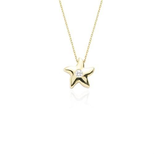 Glorria Altın Yıldız Kolye