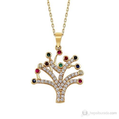 Altınsepeti Altın Hayat Ağacı Taşlı Kolye As681kl