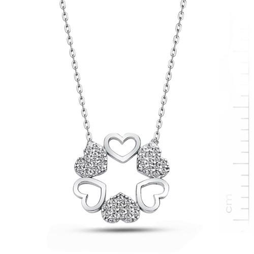 Bella Gloria Altın Kaplamalı Gümüş Kalp Çemberi Kolye (GK00134)