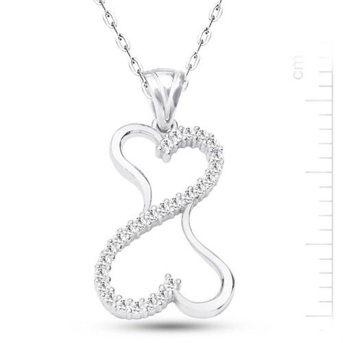 Bella Gloria Altın Kaplamalı Gümüş Kalpten Kalbe Kolye (GK00170)