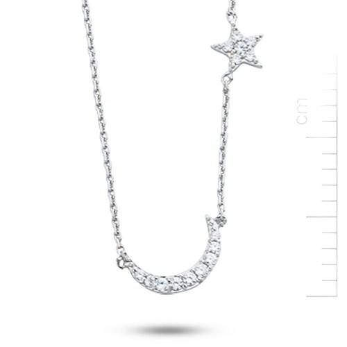 Bella Gloria 14 Ayar Altın Ay ve Yıldız Kolye (PP78164)
