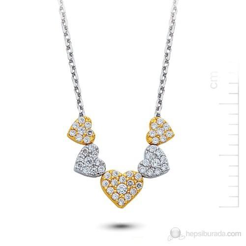 Bella Gloria Altın 5 Kalp Kolye (Pp78197)