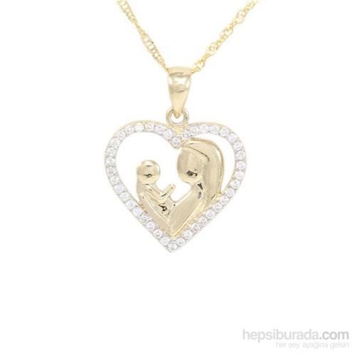 Altınsepeti Kalp İçerisinde Anne Çocuk Altın Kolye As467kl