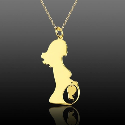 De Hari's Tasarım Anne Karnında Bebek Gümüş Kolye