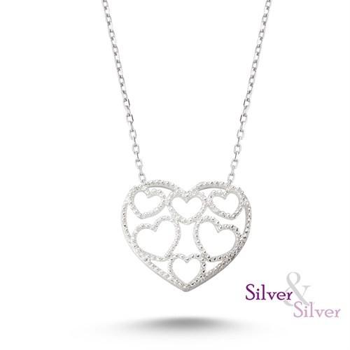 Silver & Silver Canımın İçi Kalpli Kolye