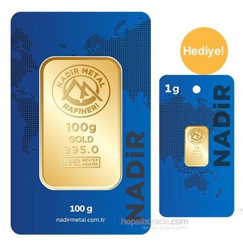 Nadir Gold 24 Ayar Gram Altın Külçe Altın 100 Gr - 1 Gr Külçe Altın Hediye